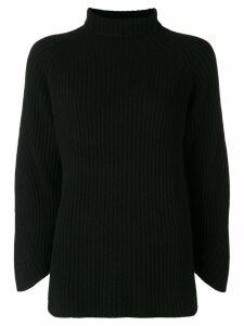 Philo-Sofie cropped sleeve turtleneck sweater - Black