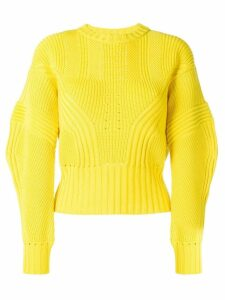 Versace baloon sleeves knitted jumper - Yellow