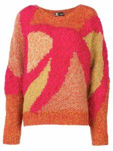 Kansai Yamamoto Pre-Owned abstract pattern jumper - Pink