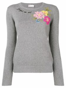 Red Valentino 'Forget Me Not' sweater - Grey