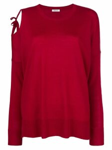 P.A.R.O.S.H. cut out shoulder sweater - Red