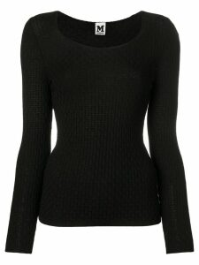 Missoni Pre-Owned 1990's textured knitted blouse - Black