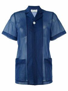 Comme Des Garçons Pre-Owned sheer shortsleeved shirt - Blue