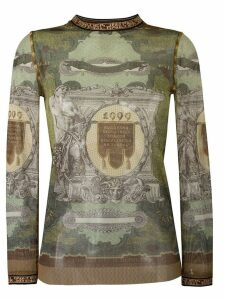 Jean Paul Gaultier Pre-Owned printed sheer sweater - Multicolour