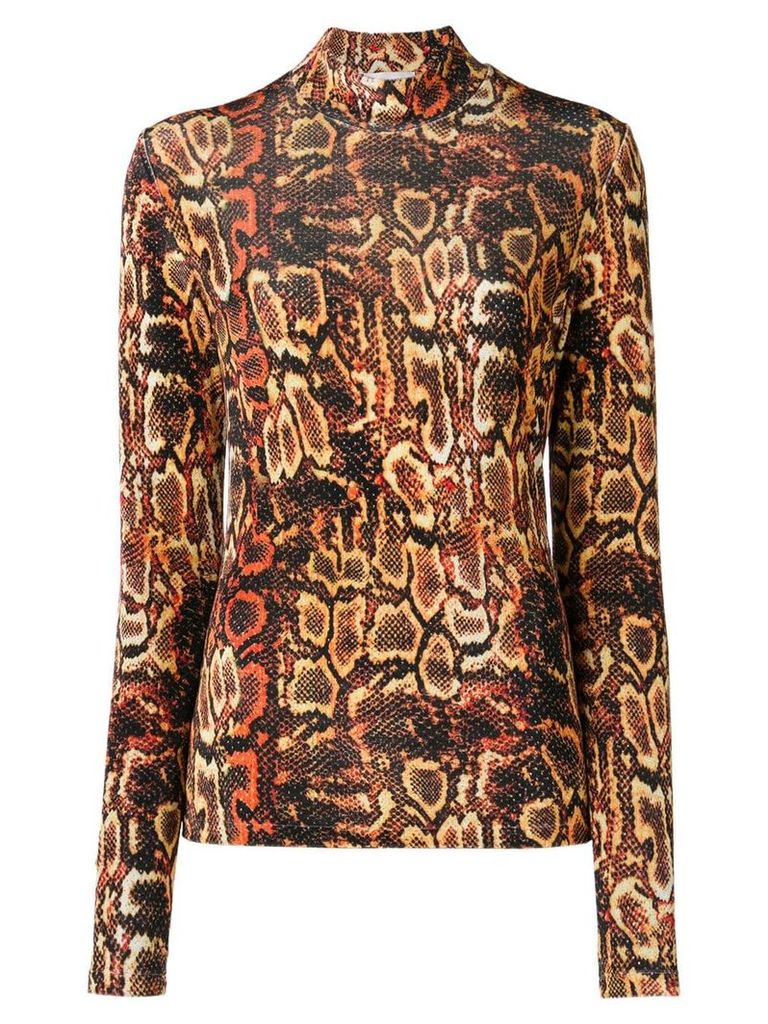 Faith Connexion snake print high neck sweater - Yellow