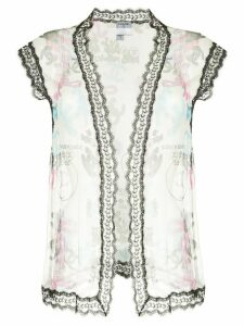 Chanel Pre-Owned CC sleeveless top - White