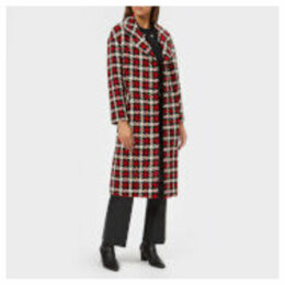 McQ Alexander McQueen Women's Casual Check Coat - Small Check - IT 44/UK 12 - Multi