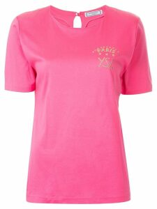 Yves Saint Laurent Pre-Owned studded logo T-shirt - Pink