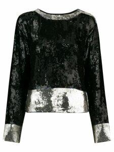 YVES SAINT LAURENT PRE-OWNED 1971 sequinned longsleeved blouse - Black