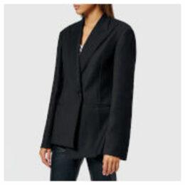 Helmut Lang Women's Peak Lapel Tuxedo Blazer - Black