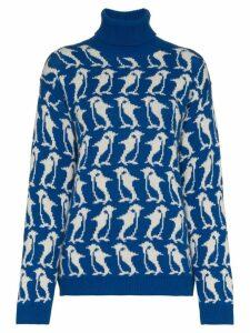 Moncler Grenoble Penguin turtle neck knit - Blue