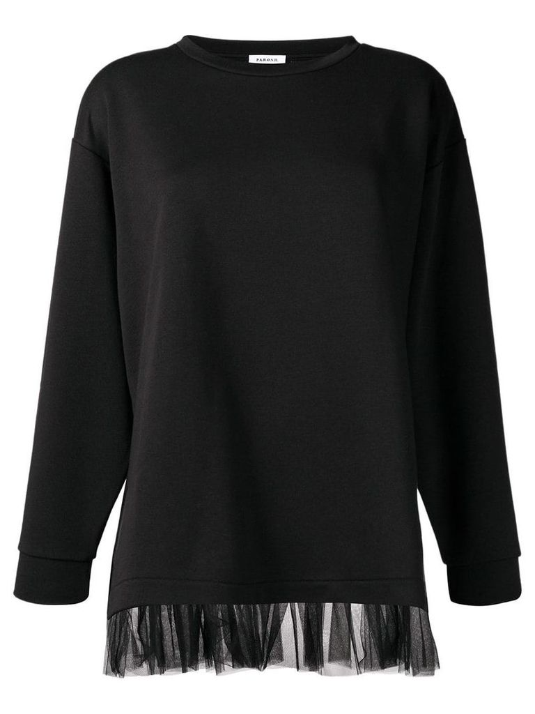 P.A.R.O.S.H. tulle trim jumper - Black