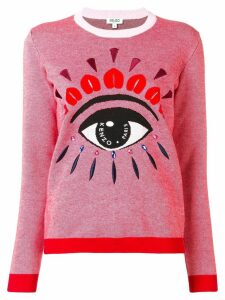 Kenzo embroidered intarsia sweater - Pink