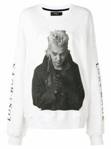Amiri oversized sleeve sweatshirt - White