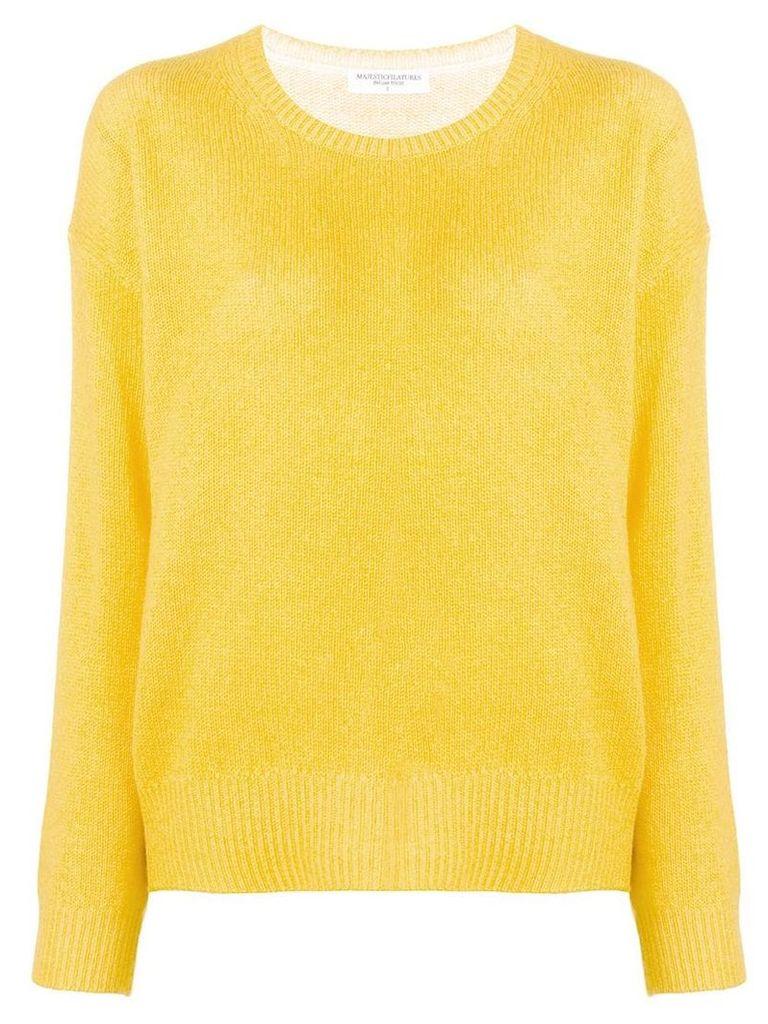 Majestic Filatures fine knit sweater - Yellow