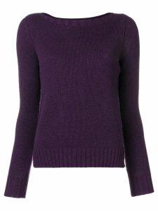 Aragona cashmere knit sweater - Purple