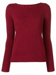 Aragona cashmere knit sweater - Red