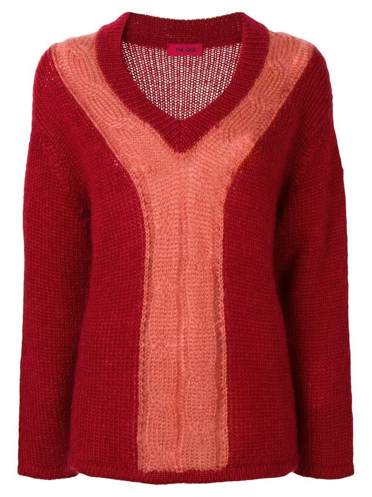 The Gigi Carlita two-tone sweater - Red