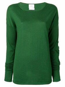 Barrie fringe detail sweater - Green
