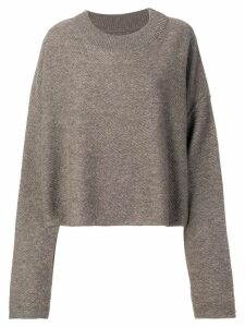 RtA cashmere cropped sweater - Neutrals