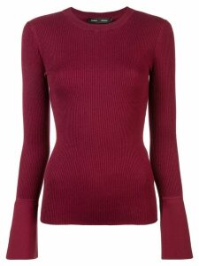 Proenza Schouler ribbed knit fitted top - Red