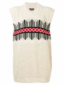 Isabel Marant front pattern sweater - Neutrals