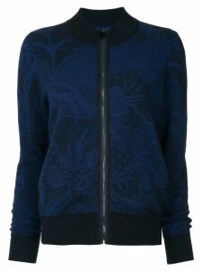 Onefifteen embroidered knit jacket - Black
