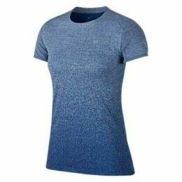 Nike Medalist Short Sleeve Running Top, Cobalt Tint/Gym Blue