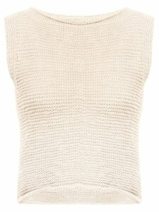 Voz knitted crop top - Neutrals