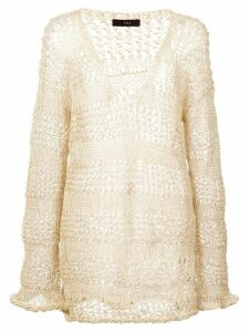 Voz loose knit sweater - White