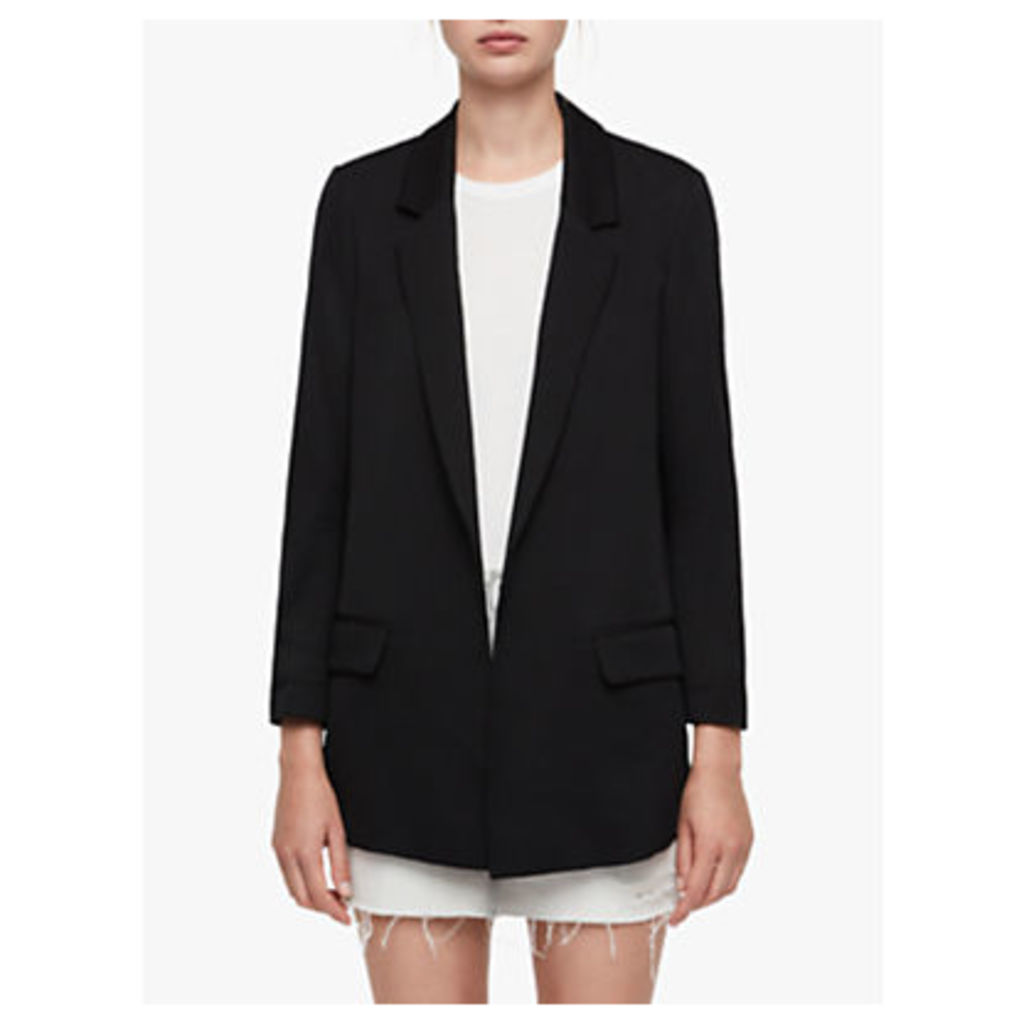 AllSaints Aleida Long Sleeve Blazer, Black