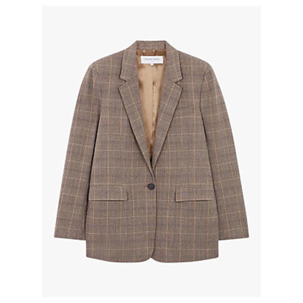 Gerard Darel Stella Check Jacket, Camel