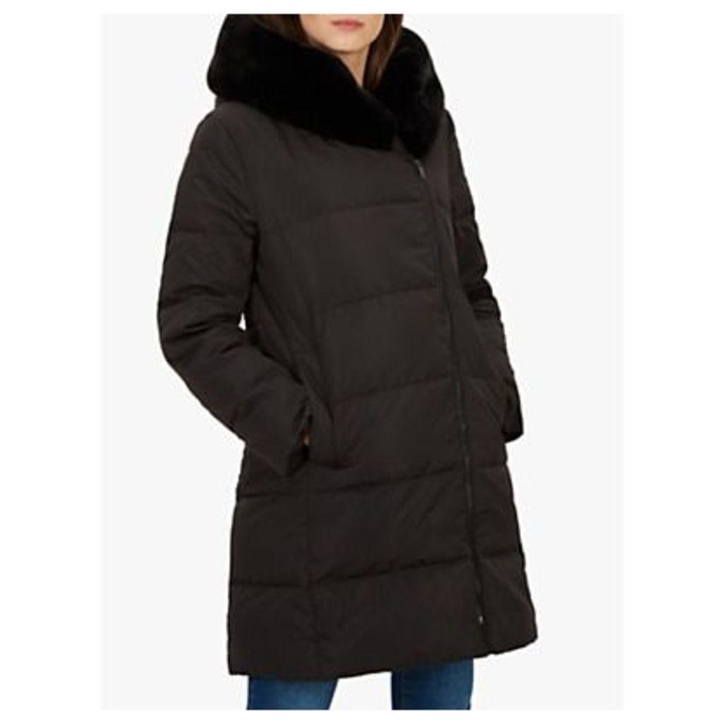 Jaeger Faux Fur Hood Puffer Coat, Black