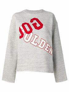Golden Goose logo print jersey sweater - Grey