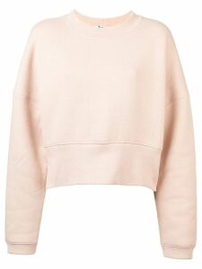 T By Alexander Wang cropped casual sweatshirt - Neutrals