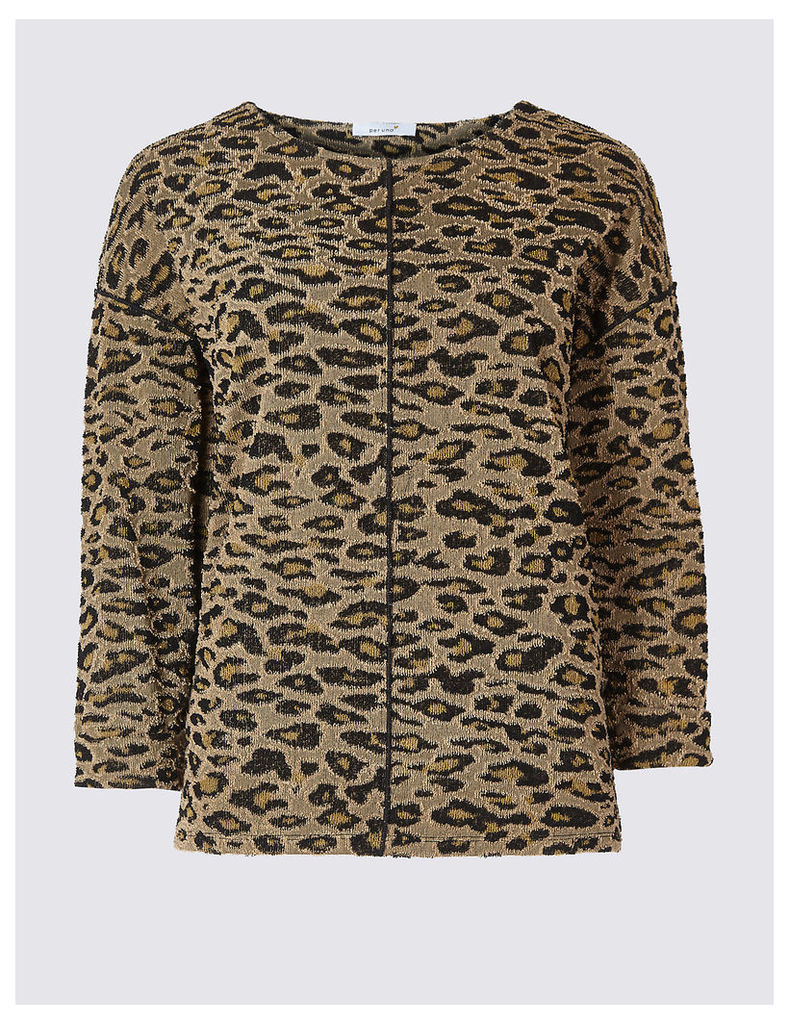 Per Una Animal Print Long Sleeve Sweatshirt