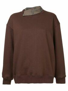 Le Ciel Bleu relaxed fit sweatshirt - Brown