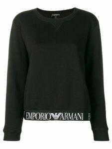 Emporio Armani branded band sweatshirt - Black