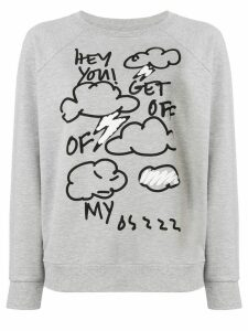 6397 clouds print sweatshirt - Grey