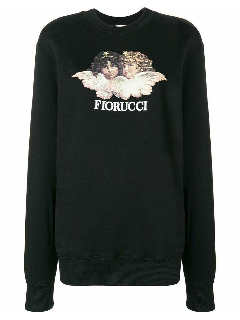 Fiorucci Angels print sweater - Black
