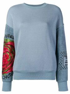 Mr & Mrs Italy embroidered detail sweatshirt - Blue