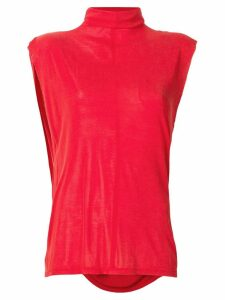 Unravel Project turtle neck jersey top - Red