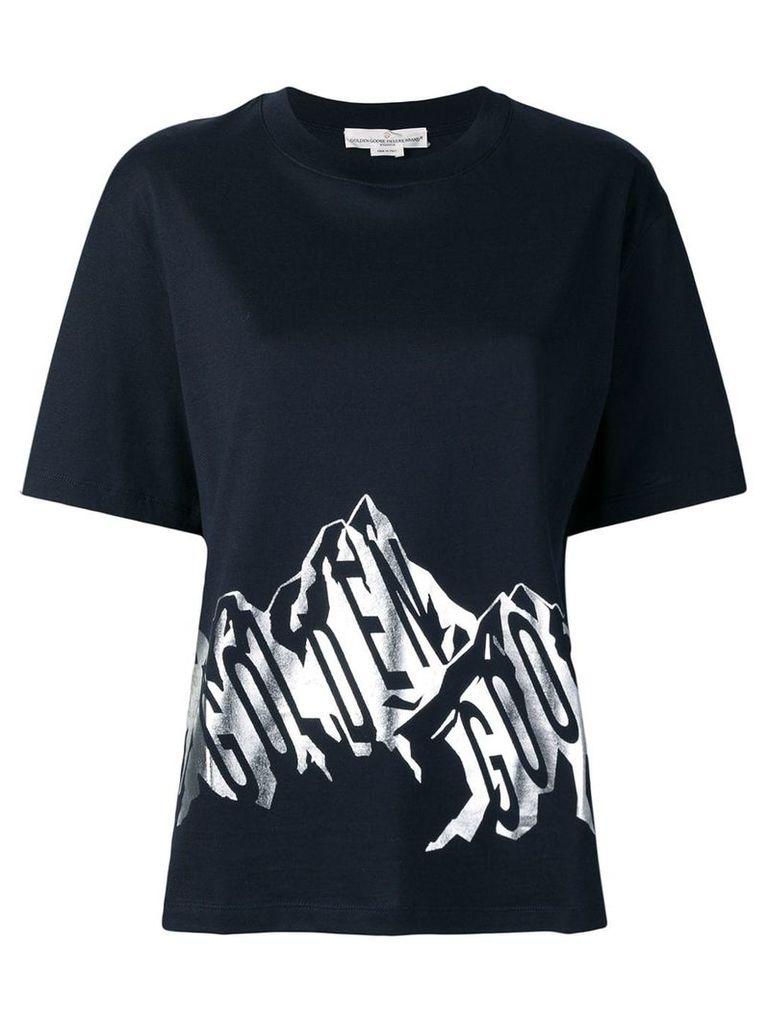 Golden Goose logo print T-shirt - Blue