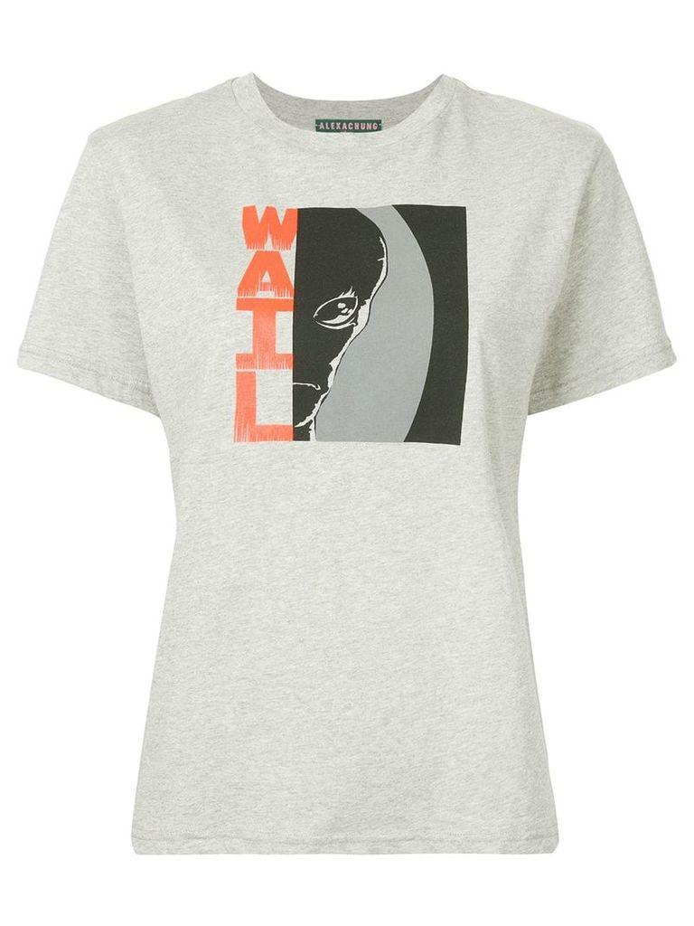 Alexa Chung graphic print T-shirt - Grey