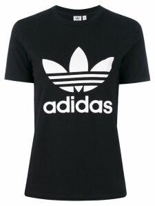 Adidas Adidas Originals Trefoil print T-shirt - Black