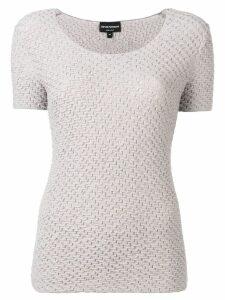 Emporio Armani ribbed stretch T-shirt - Grey