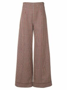 Courrèges houndstooth palazzo trousers - Blue