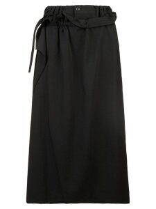 Yohji Yamamoto high-waisted skirt - Black