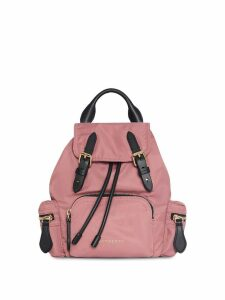 Burberry The Crossbody Rucksack in Nylon and Leather - Red
