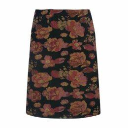 Floral Jaquard Tapestry Skirt